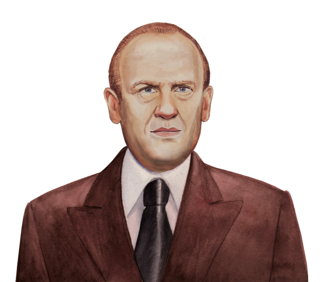 This is a little watercolour I did of Oskar Schindler for a publisher.