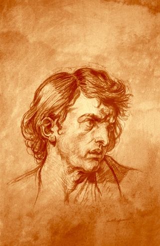 The Passionate Man (After Jean Baptiste Greuze) | 2002 | Sanguine Pitt and Pastel